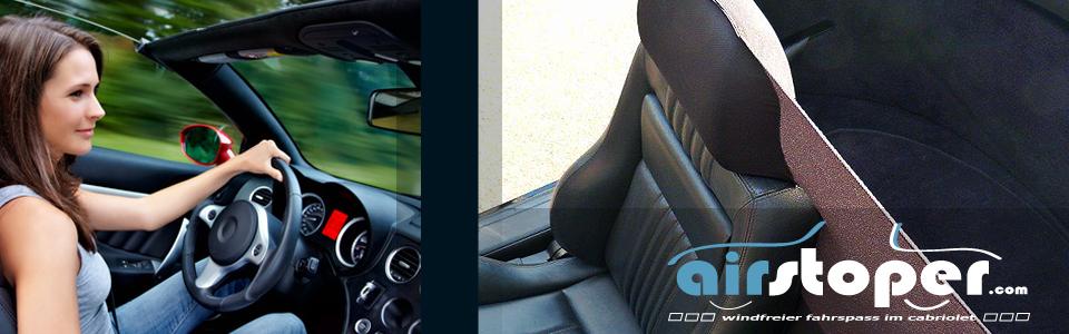Windschott für Cabrio Rücksitze AIRSTOPER BACK Windschutz